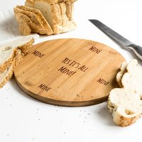 It's All Mine Bamboo Round Serving Board
