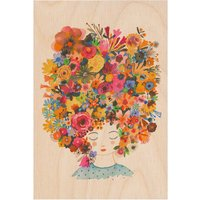 Holiday Hair Wooden Postcard