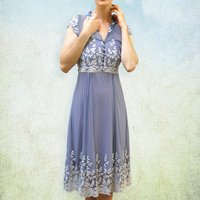 Lace Tea Dress With 1940s Detailing