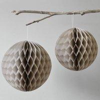 Set Of Two Honeycomb Balls Beige
