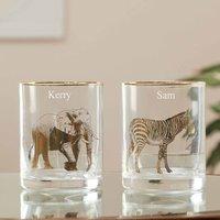 Personalised Exotic Safari Gold Tumblers Gift Set