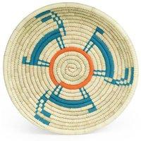 Bibi Handwoven Patterned Circular Tray