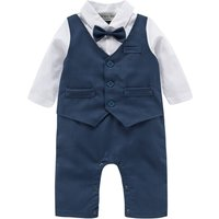 Baby Boys All In One Outfit With Waistcoat Set