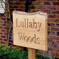 Personalised Live Edge Free Standing House Sign