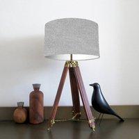 Light Grey Woven Lampshade