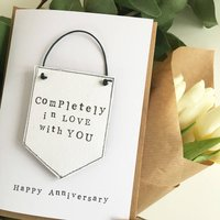 Completely In Love With You Banner Keepsake Gift Card