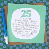 By Your Age... Funny 25th Birthday Card