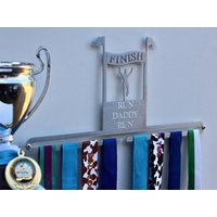 Personalised Male Finisher Medal Display Hanger