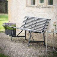 Black Steel Curve Garden Bench