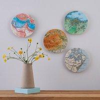 Custom Map Location Circle Collectible Wall Art Block