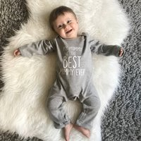 My Mummy Is The Best… Personalised Rompersuit, Blue/Navy/Pink