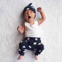 Unisex Navy Star Child And Baby Leggings