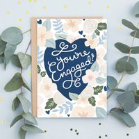 Floral Engagment Card