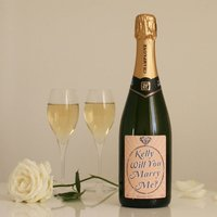 Personalised Proposal Champagne Will You Marry Me?