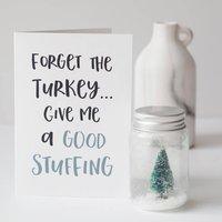 Stuff The Turkey Naughty Christmas Card