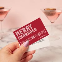 Merry Christmas Charades Party Game