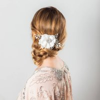 Miriam Pearl And Crystal Flower Headpiece
