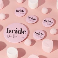 Hen Party Bride Tribe Badge | Pink, Pink