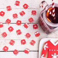 Red And White Festive Christmas Jumper Table Confetti
