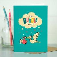 New Baby Boy Card Bundle Of Joy