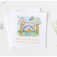 New Baby Card For Rainbow Baby, Christening Card .4v16a