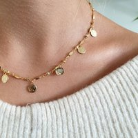Gold Vintage Coin Necklace, Gold