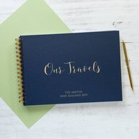 Personalised 'Our Travels' Memory Book Or Photo Album