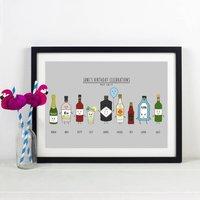 Personalised Birthday Drinks Print