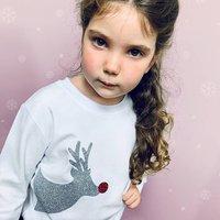Reindeer Sparkle Christmas T Shirt For Children