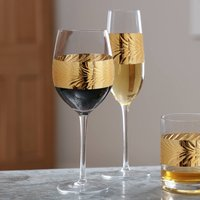 Twelve Piece Feuille D'or Champagne And Wine Glass Set