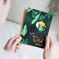 Jungle Toucan 'Wild Birthday' Illustrated Birthday Card