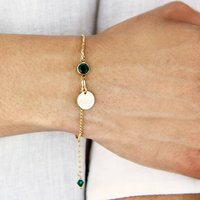 Gold Filled Birthstone Bracelet, Gold
