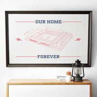 'Our Home Forever' Football Stadium Print