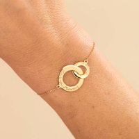 Personalised Intertwined Chain Bracelet