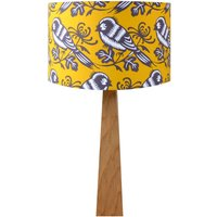 Mustard Birds Wooden Table Lamp
