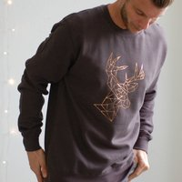 Personalised Geometric Reindeer Christmas Jumper Unisex