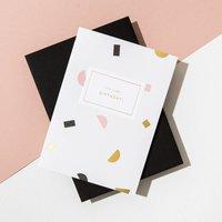 'It's Your Birthday' Shapes Card, Ebony Envelope