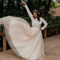Bridal Long Sleeve Lace Overlay Jacket