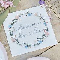 Boho Floral Team Bride Hen Party Napkin