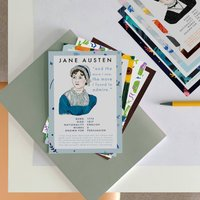 Postcard Set With Authors Of Classic Literature