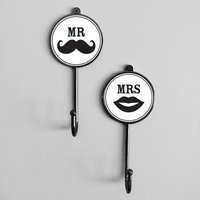 Mr And Mrs Personalised Wedding Coat Wall Hooks