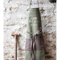 Personalised Green Canvas Apron