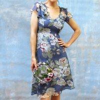 Garden Party Silk Dress With Ruffle Detail