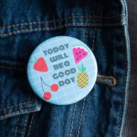 Motivation ' Today Will Be A Good Day' Badge Gift Set