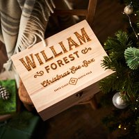 Santa Claus Wooden Christmas Eve Box