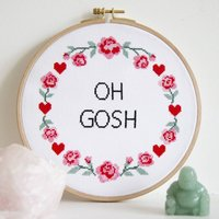 Oh Gosh Cross Stitch Kit