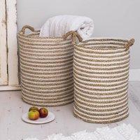 Hyacynth Wicker Baskets Set Of Two