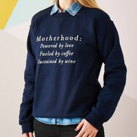 Motherhood Women's Sweatshirt Jumper, Black/Grey/Navy