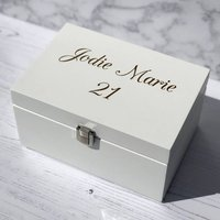Personalised Jewellery, Makeup Or Keepsake Box