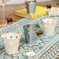 Set Of Three Heart Tea Light Lanterns
